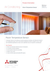 Discreet Remote Room Temperature Sensor Product Information Sheet cover image