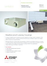 Weather-proof Lossnay Housing Product Information Sheet cover image
