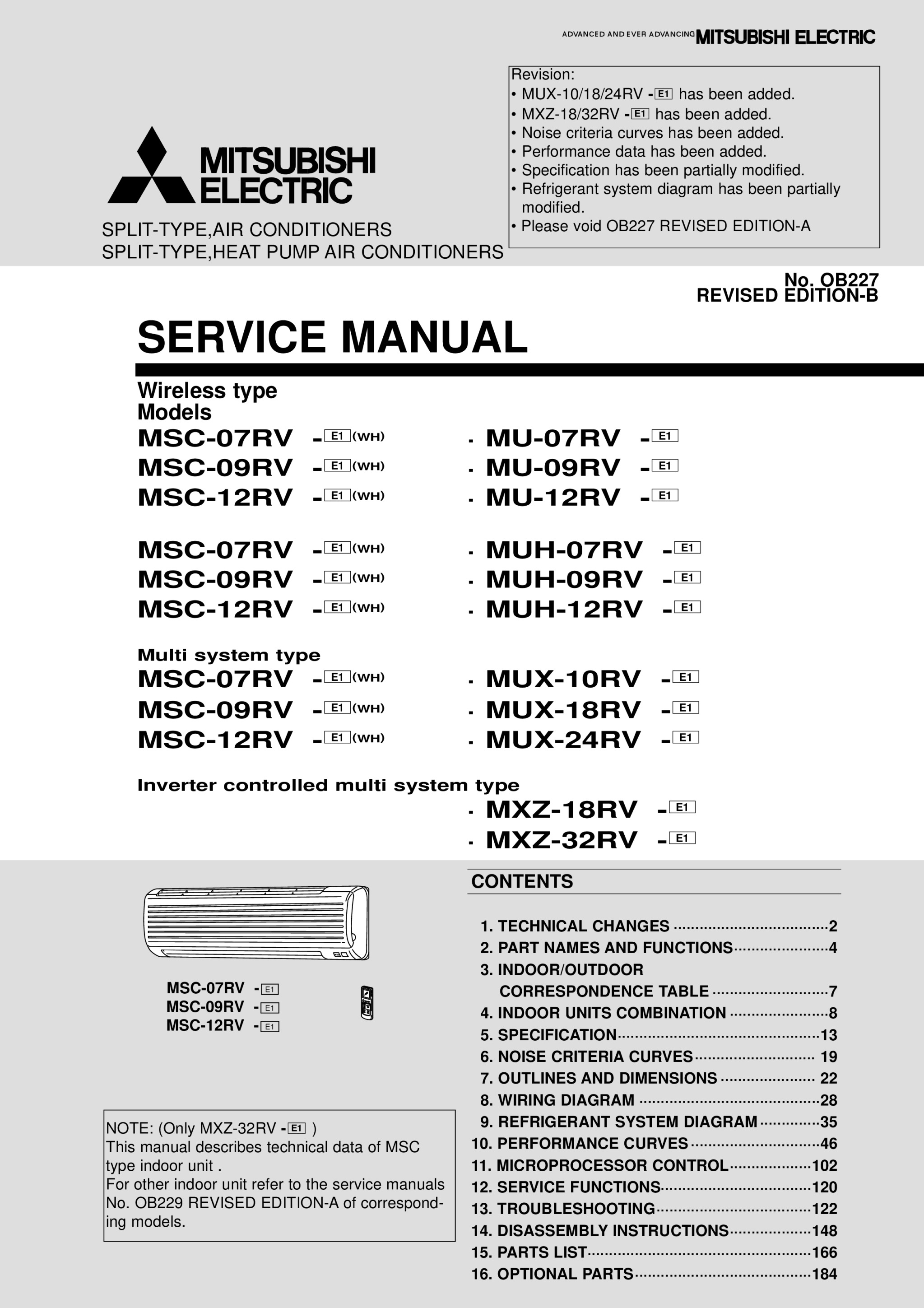 Muh 07 12rv Parts Catalog Ob227b Mitsubishi Electric Diagrams Page 1 Zoom In