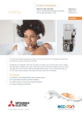 Ecodan FTC5 - EHPT15-30X-UKHCW Monobloc Pre-plumbed Standard Cylinder Product Information Sheet cover image