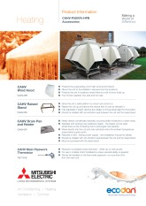 Ecodan CAHV-P500YA-HPB Accessories Product Information Sheet cover image
