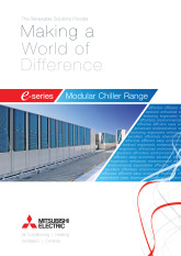 e-Series Modular Chiller Range Product Brochure cover image