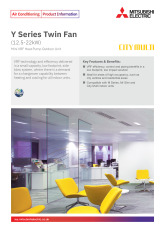 Y Series Mini VRF Twin Fan 12.5-22kW Product Information Sheet cover image