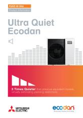 Ecodan PUHZ-W85-112VAA Monobloc Air Source Heat Pump Product Information Sheet cover image