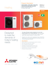 Ecodan PUHZ Monobloc Air Source Heat Pump Product Information Sheet cover image