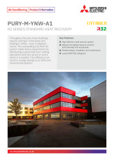 R2 Series R32 VRF Standard -YNW (22-34kW) Product Information Sheet cover image
