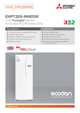 Ecodan Packaged Cylinder EHPT20X-MHEDW Product Information Sheet cover image