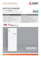 Ecodan EHPT20X-MHEDW Product Information Sheet cover image