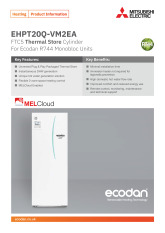 Ecodan Thermal Store Cylinder EHPT20Q-VM2EA Product Information Sheet cover image