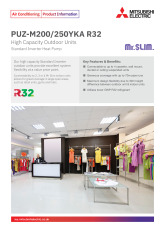 PUZ-M200/250YKA R32 Standard Inverter Heat Pump Product Information Sheet cover image