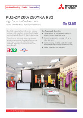 PUZ-ZM200/250YKA R32 Power Inverter Heat Pump Product Information Sheet cover image