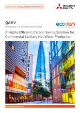 Ecodan QAHV N560YA-HPB Monobloc Air Source Heat Pump Product Information Sheet cover image