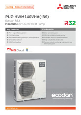 Ecodan PUZ-HWM140VHA(-BS) Product Information Sheet cover image