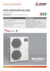 Ecodan PUZ-HWM140YHA(-BS) Product Information Sheet cover image
