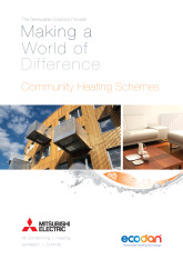 Ecodan Community Heating Schemes Brochure cover image