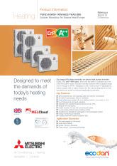 Ecodan PUHZ-(H)W50-140VHA(2)/YHA2 Monobloc Air Source Heat Pump Product Information Sheet cover image