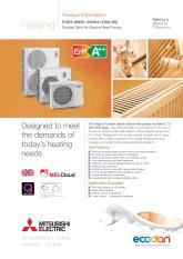 Ecodan PUHZ-SW50-120VKA/VHA Split Air Source Heat Pump Product Information Sheet cover image