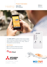 Ecodan MELCloud Product Information Sheet cover image