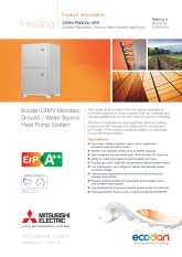 Ecodan CRHV-P600YA-HPB Product Information Sheet cover image