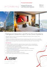 Refrigerant Detection and Pump Down Systems Product Information Sheet cover image