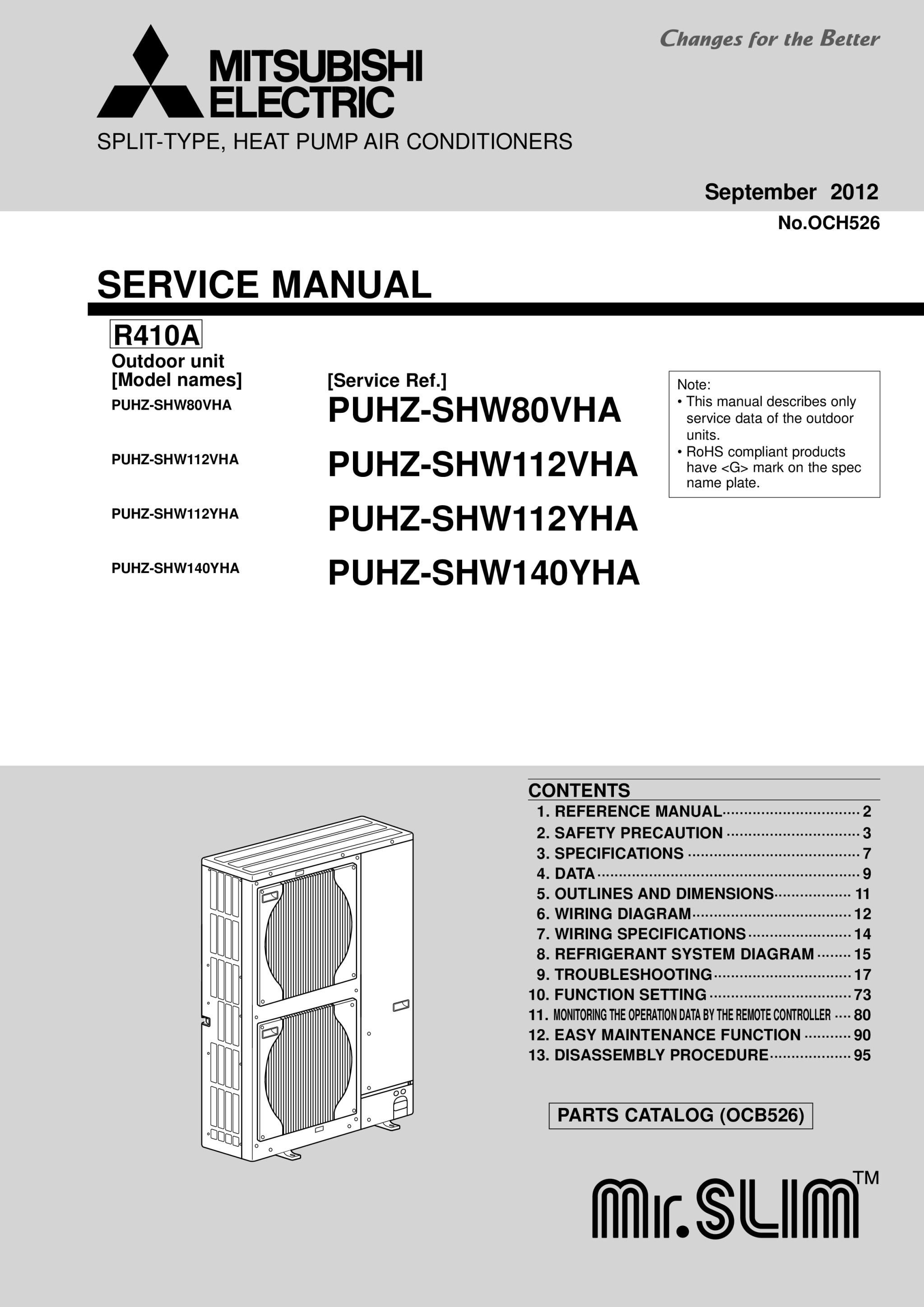 Puhz shw112 140vyha service manual och526 mitsubishi electric page 1 zoom in buycottarizona Choice Image