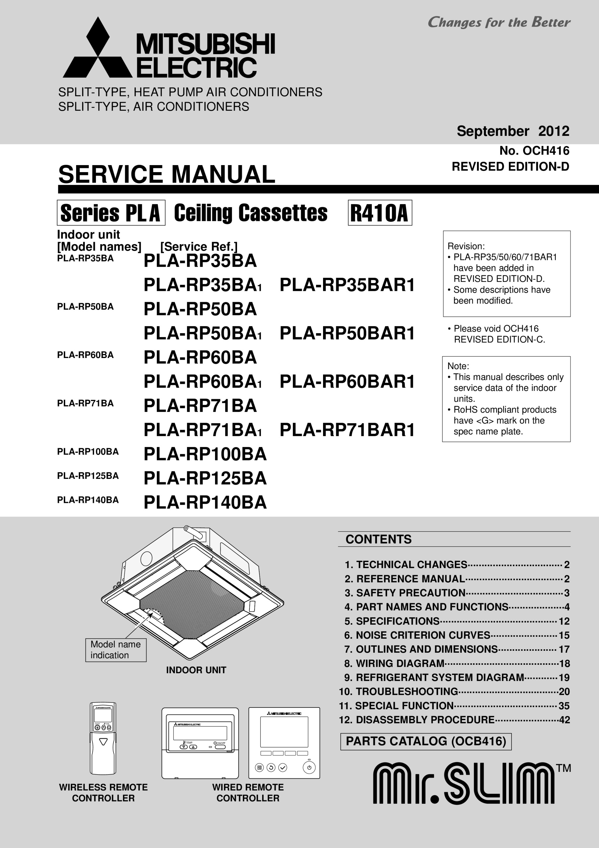 Pla Rp35 140ba Service Manual Och416d Mitsubishi Electric Wiring Diagram Page 1 Zoom In