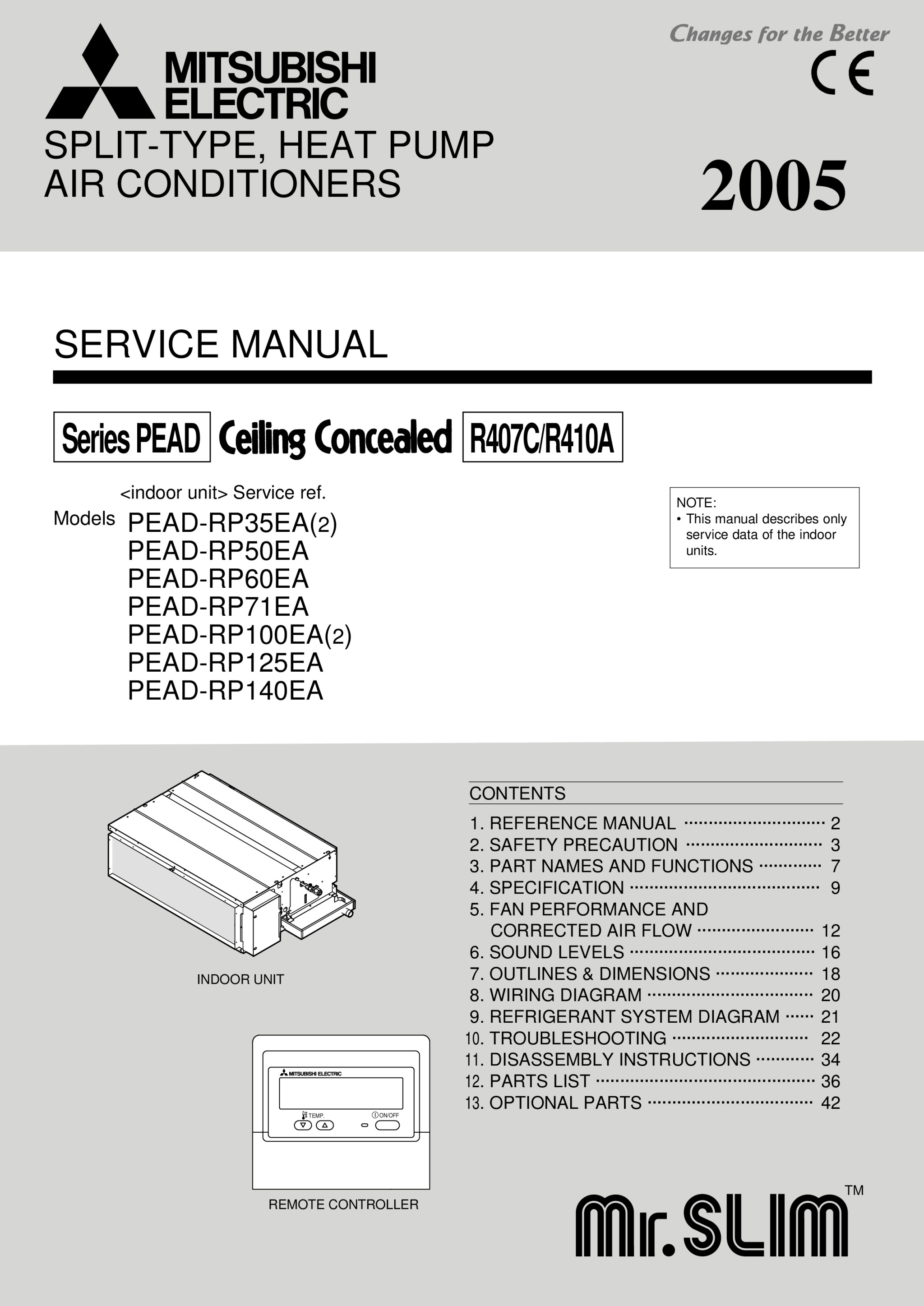 0_main pead rp35 140jaq service manual mitsubishi electric