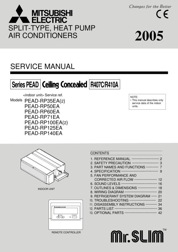 Pead Rp35 140jaq Service Manual Mitsubishi Electric