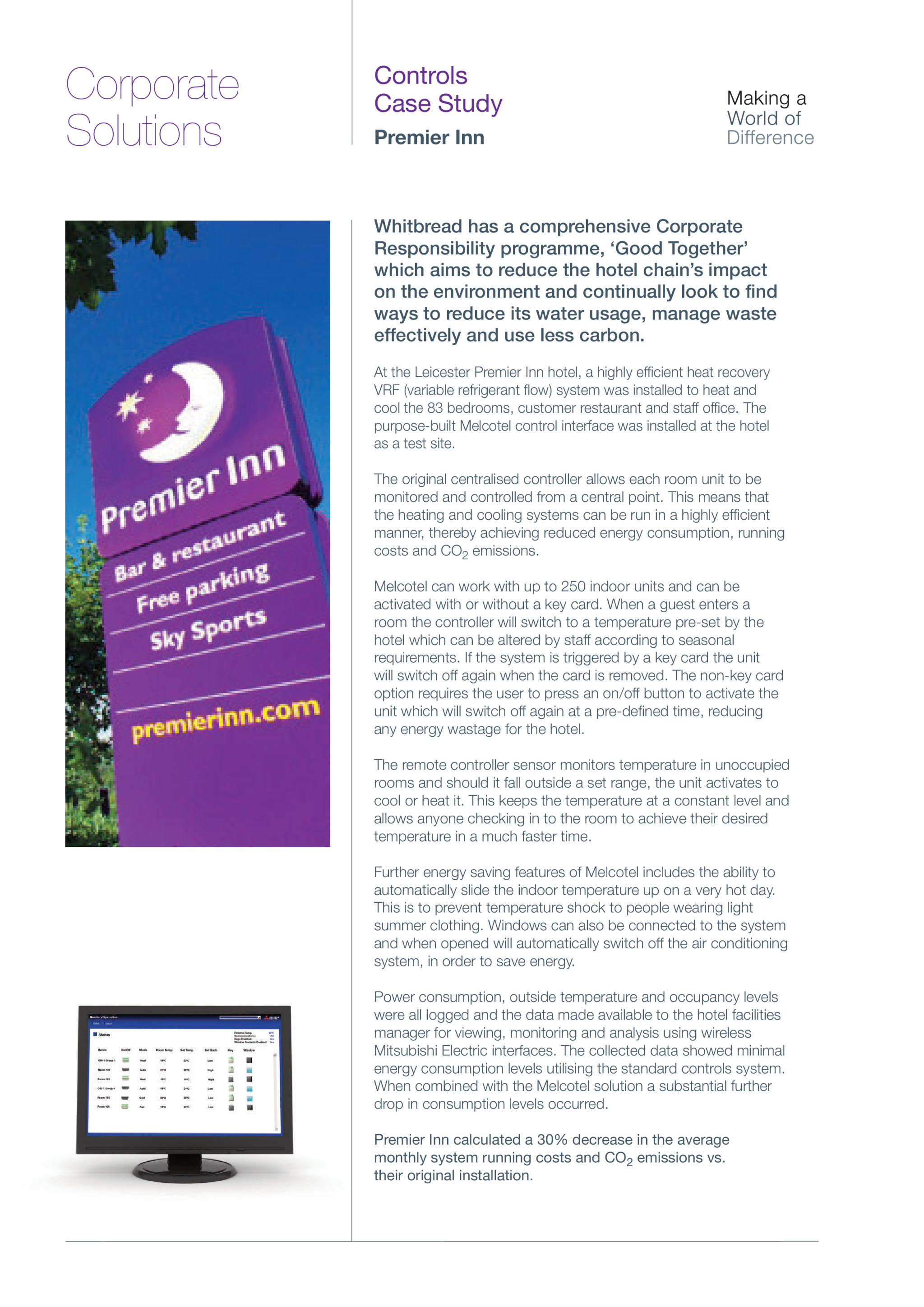 Premier Inn Heat Recovery VRF & Controls Leicestershire