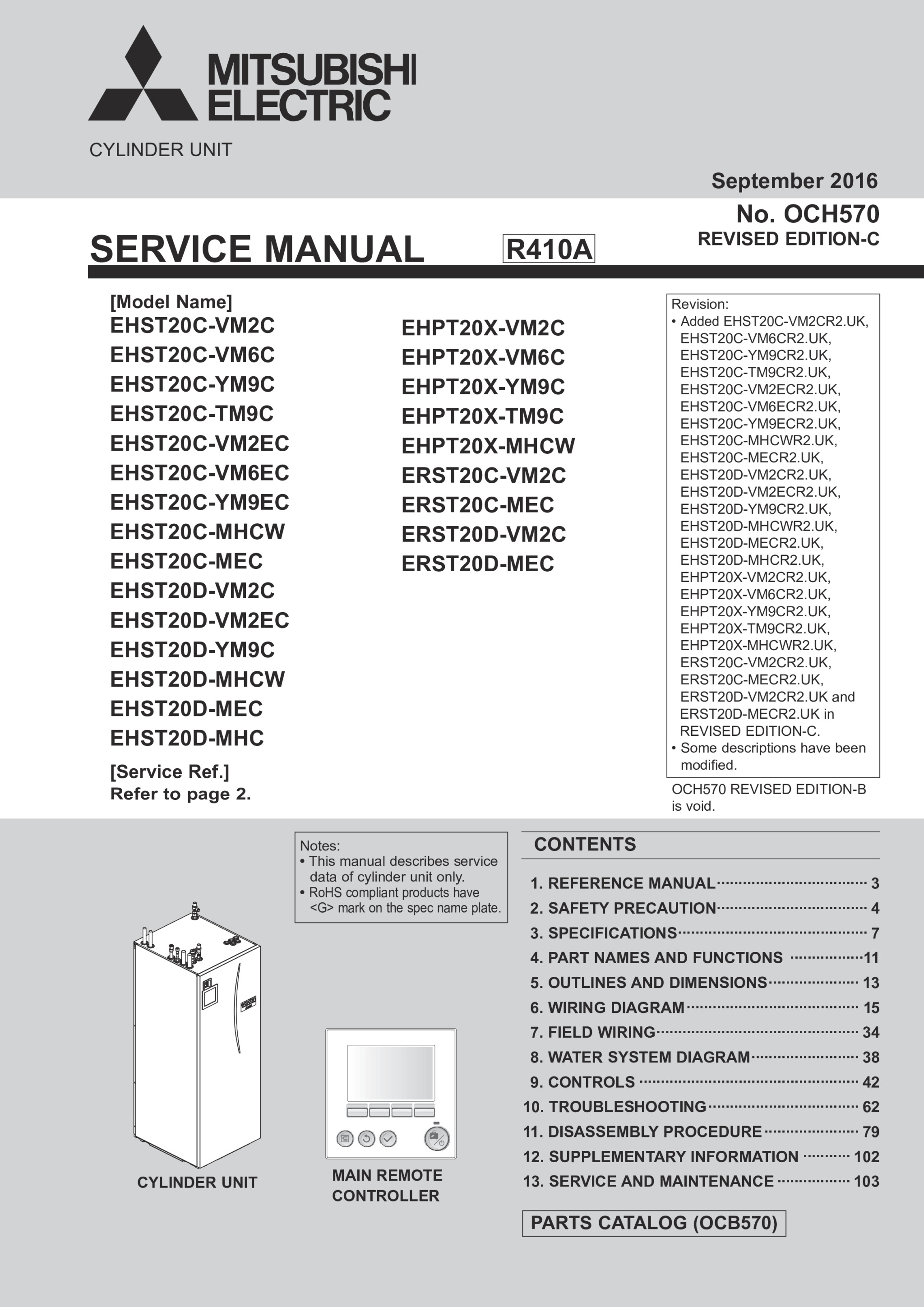 ecodan ftc5 ehpt20x mhcw ehst20 d c mhcw cylinder service rh library mitsubishielectric co uk 2003 Mitsubishi Lancer Manual Cover Mitsubishi Lancer Automatic or Manual