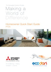 Ecodan FTC5 Homeowner Quick Start Guide cover image