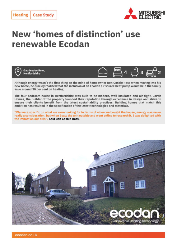 New Build Homes, Hertfordshire - Mitsubishi Electric