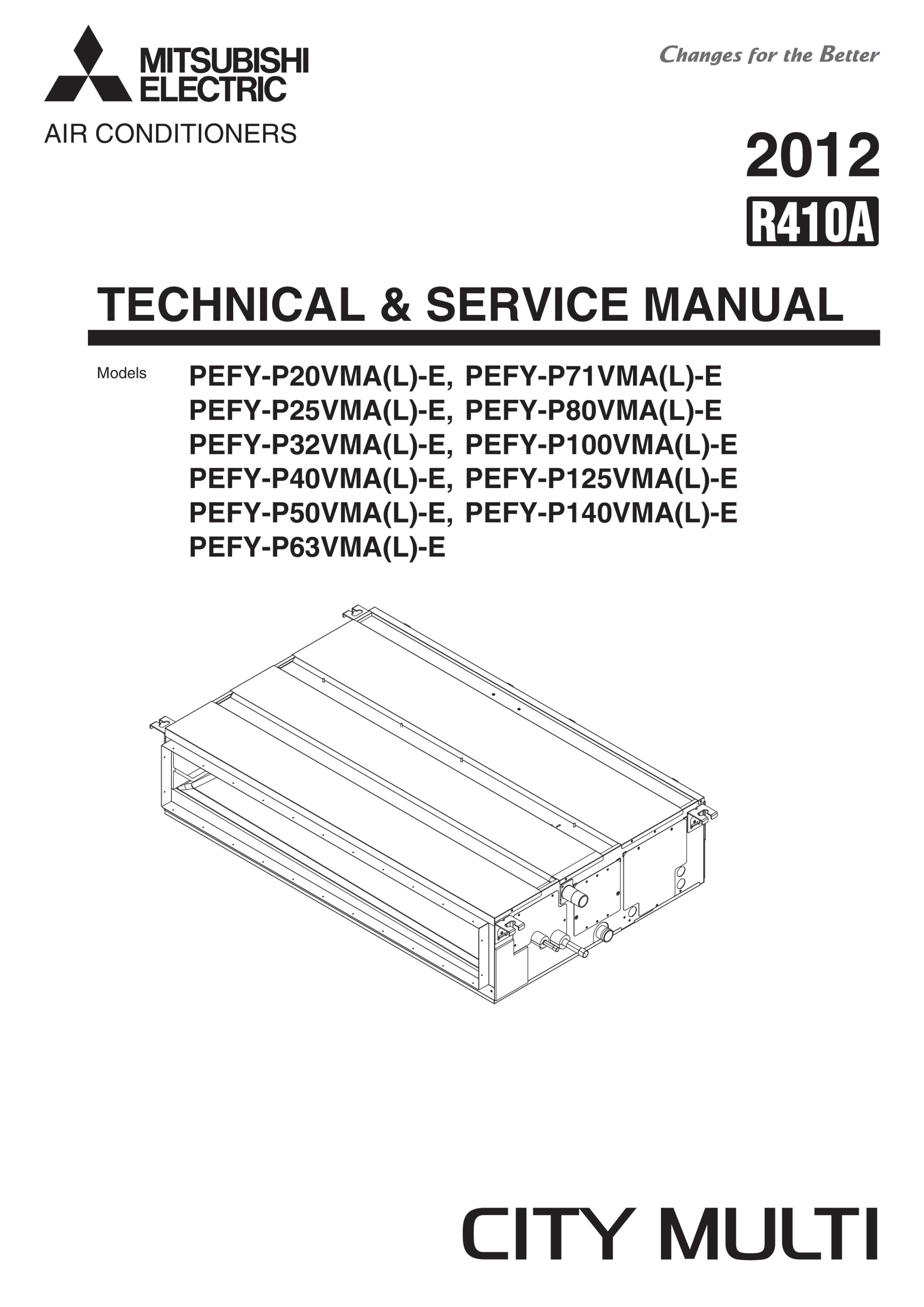 pefy p20 125vma e service manual hwe0812b mitsubishi electric rh library mitsubishielectric co uk City Multi Mitsubishi Air Conditioners City Multi Mitsubishi Air Conditioners