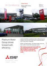 Platinum Motor Group, City Multi VRF, Wiltshire cover image