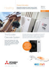 Ecodan Cascade Product Information Sheet cover image