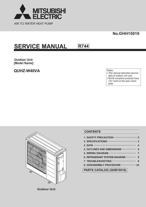 ecodan quhz w40va service manual ghh15010 mitsubishi electric rh library mitsubishielectric co uk Mitsubishi Manual Online Mitsubishi Outlander