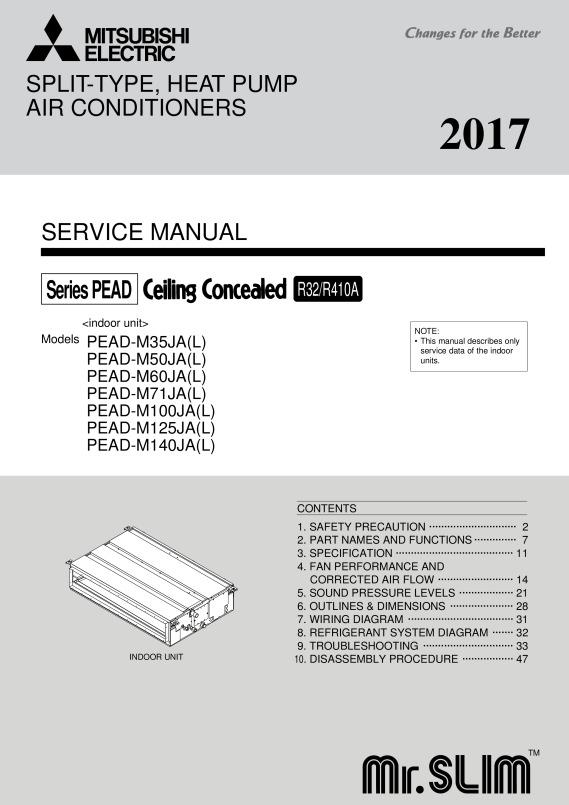 mr slim r 410a wiring diagram wiring diagram R-410A Logo pead m35 140ja service manual (hwe16130) mitsubishi electricpage 1 zoom out
