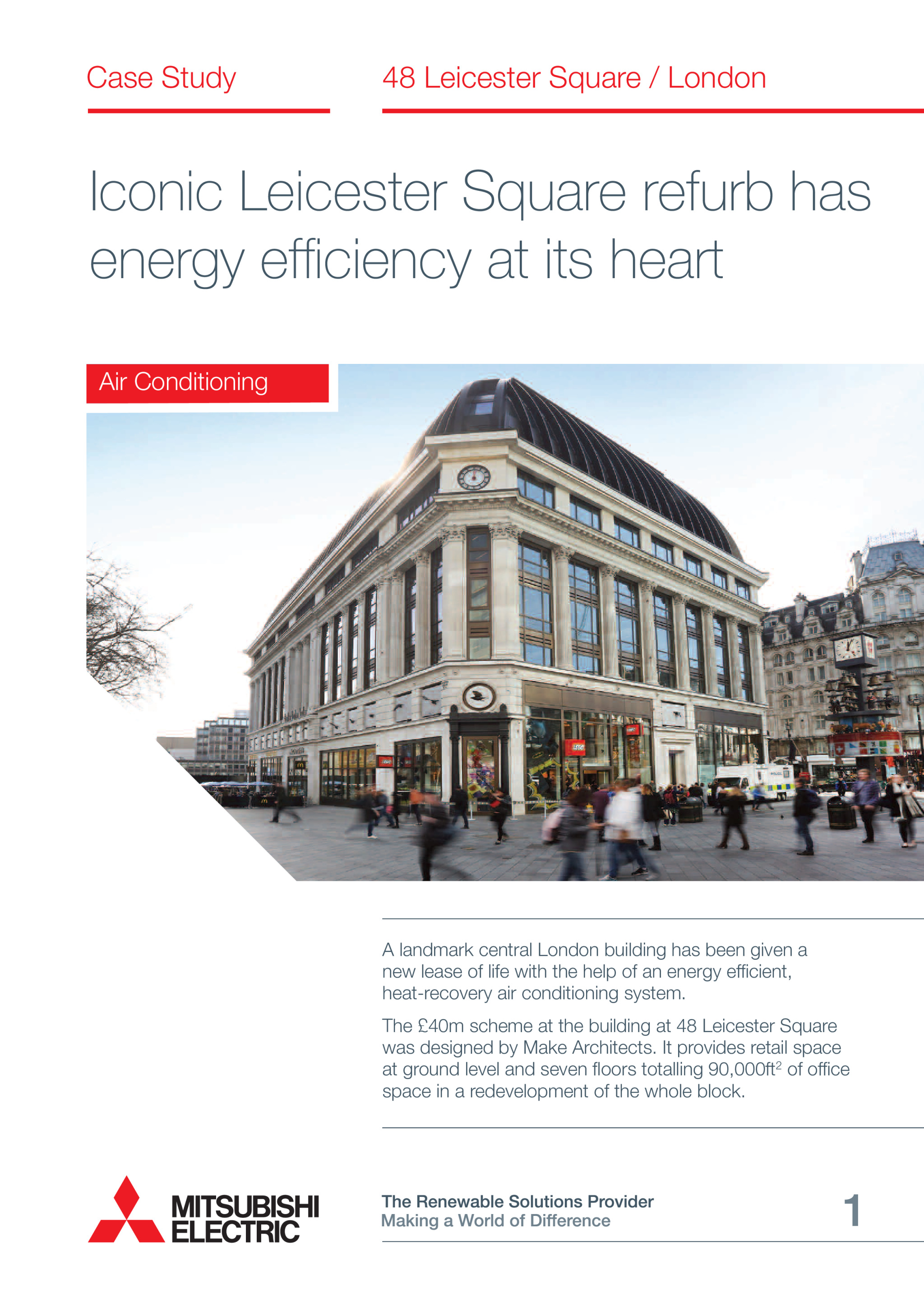 Leicester Square City Multi VRF Heat Recovery London