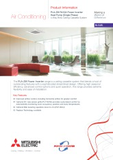 PLA-ZM35-140EA R410A Power Inverter Single Phase Product Information Sheet cover image