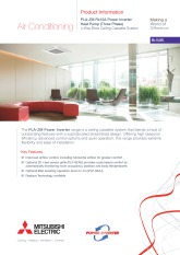 PLA-ZM100-140EA R410A Power Inverter Three Phase Product Information Sheet cover image