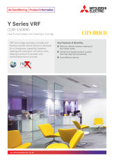 Y Series VRF Standard -YNW (130-150kW) Product Information Sheet cover image
