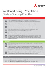 Air Conditioning & Ventilation System Start-up Checklist cover image