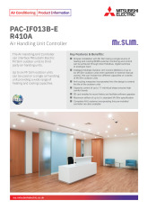 PAC-IAF013BE-R410A AHU Product Information Sheet  cover image