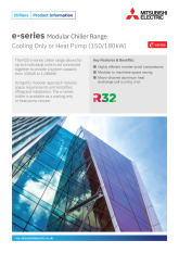 e-Series R32 Modular Chiller Product Information Sheet cover image
