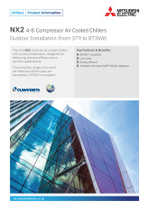 NX2 4-8 Compressor Air Cooled Chillers Product Information Sheet cover image