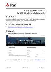 e-Shop Quick Start User Guide V2.0 cover image