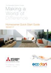 Ecodan FTC3 / FTC4 Homeowner Quick Start Guide Version 2 cover image