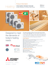 Ecodan PUHZ-(H)W50-140VHA(2)/YHA2 Monobloc Air Source Heat Pump Product Information Sheet cover image