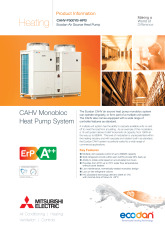 Ecodan CAHV-P500YA-HPB Product Information Sheet cover image
