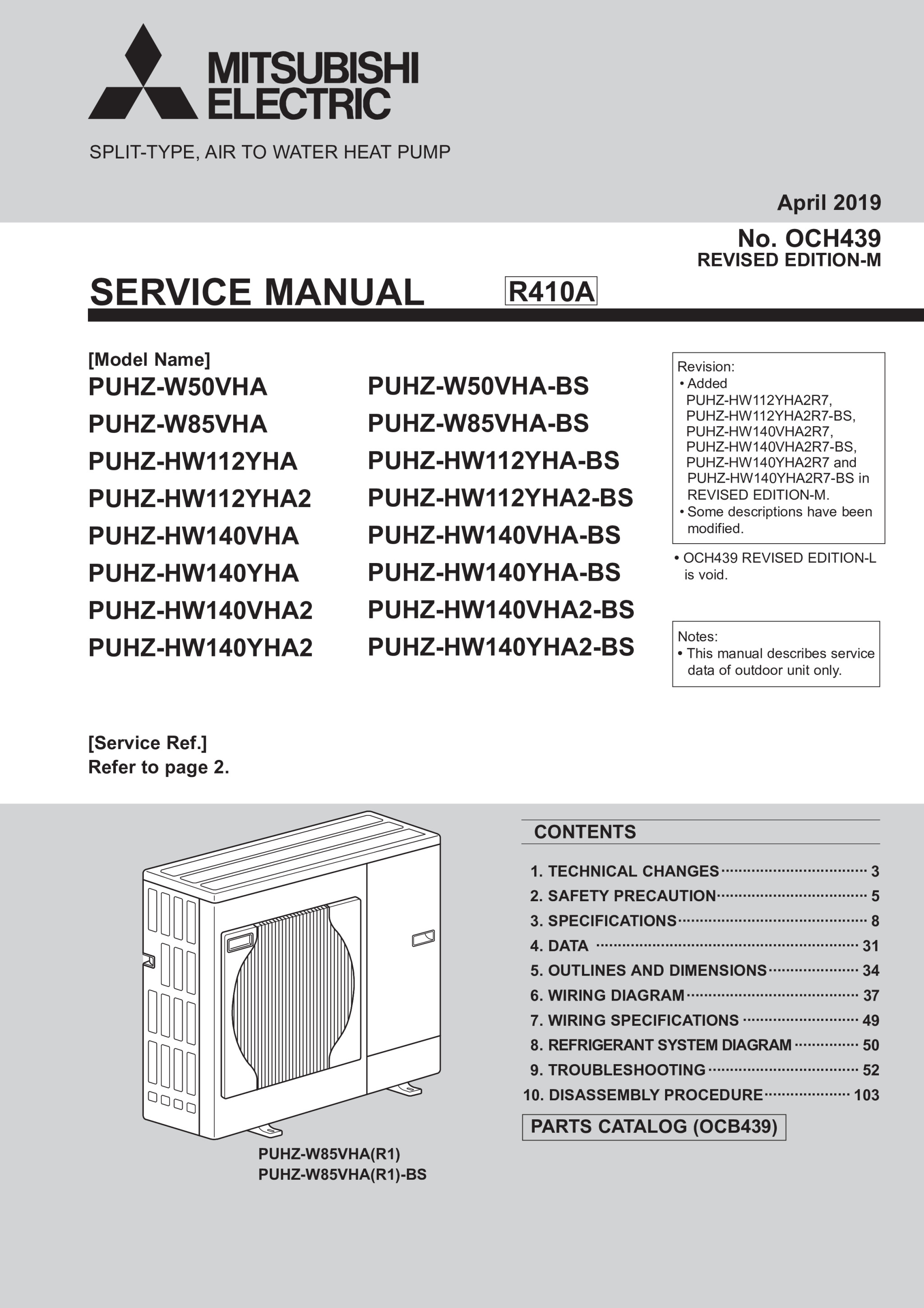 ecodan puhz hw140vha2 bs puhz hw140yha2 bs service manual och439k rh library mitsubishielectric co uk Mitsubishi Montero Engine Manual Mitsubishi Eclipse Manual